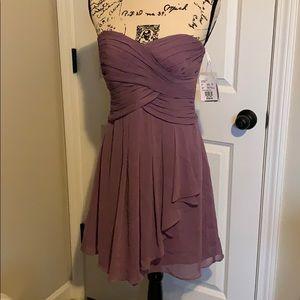 David's Bridal Strapless Purple Dress Size 6